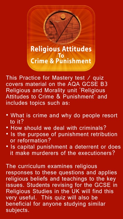 AQA Religious Studies GCSE B3 - Religious Attitudes to Crime and Punishment  by Information Technology And Resource Development LLC