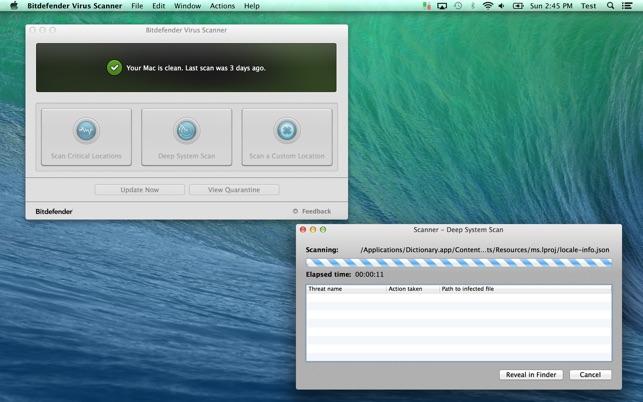 Bitdefender Virus Scanner on the Mac App Store
