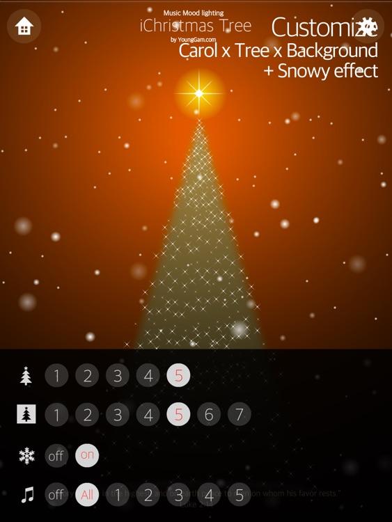iChristmas Tree HD : Music mood lighting, Christmas Carol & Animation Screen screenshot-4