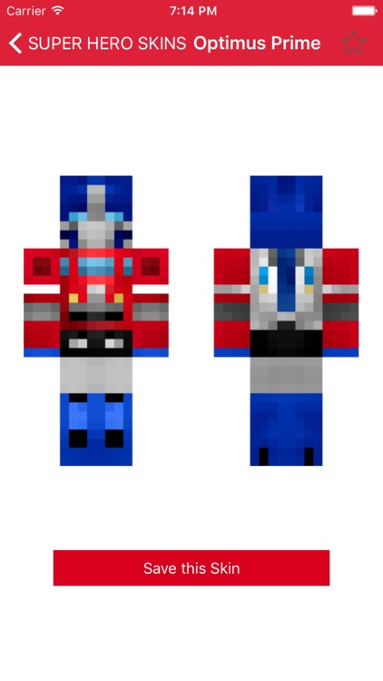 Super Hero Skins for Minecraft PE (Best Skins HD for Pocket Edition) screenshot-1