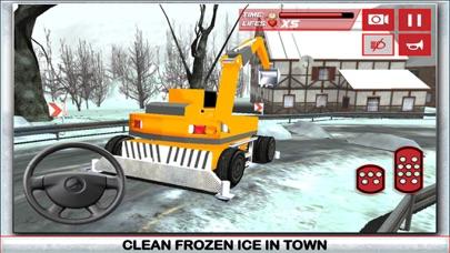 Nieve simulador de conductor de camión 3D - Conducir el gran grúa y aclarar el hielo de la carretera congeladaCaptura de pantalla de4
