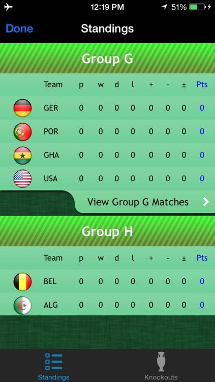World Football Calendar 2014:  the free fan app for Brazil screenshot-4