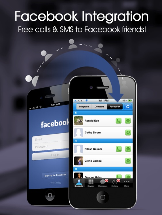 Dingtone Free Phone Calls & Text Messaging with Cheap International Calling and Texting for iPad screenshot-4