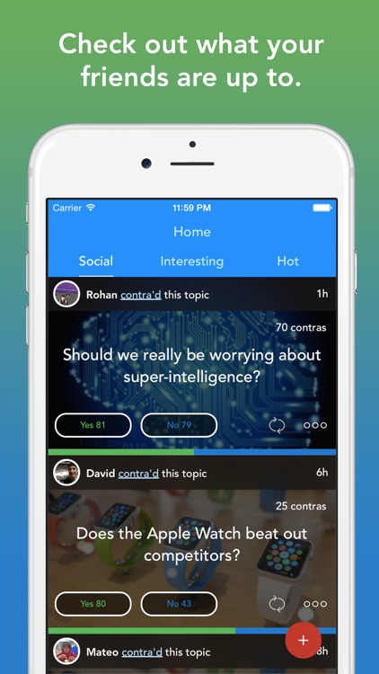 Contra - Social opinions platform screenshot-3