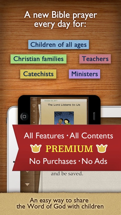 Children's Bible Daily Prayer PREMIUM for your Family and
