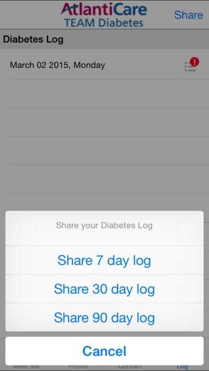 MEET ME @7 - Diabetes Self-management Tool for Patients and Caregivers screenshot-4