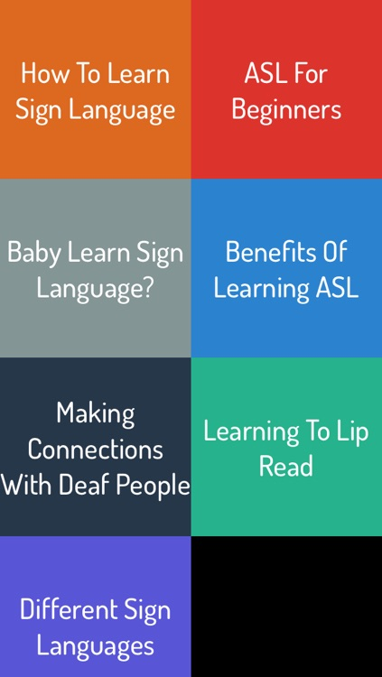 Sign Language Guide