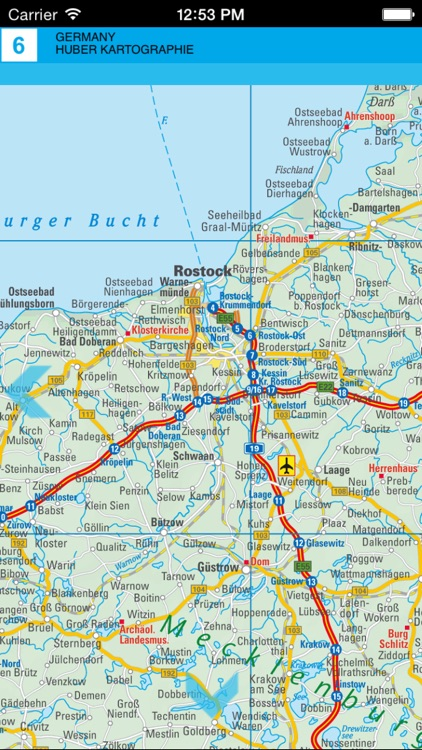 Germany. Road map by AGT Geocentre