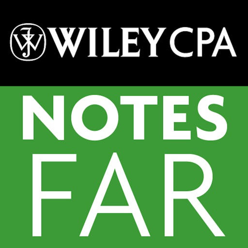 FAR Notes - Wiley CPA Exam Review Focus Notes On-the-Go: Financial Accounting and Reporting icon