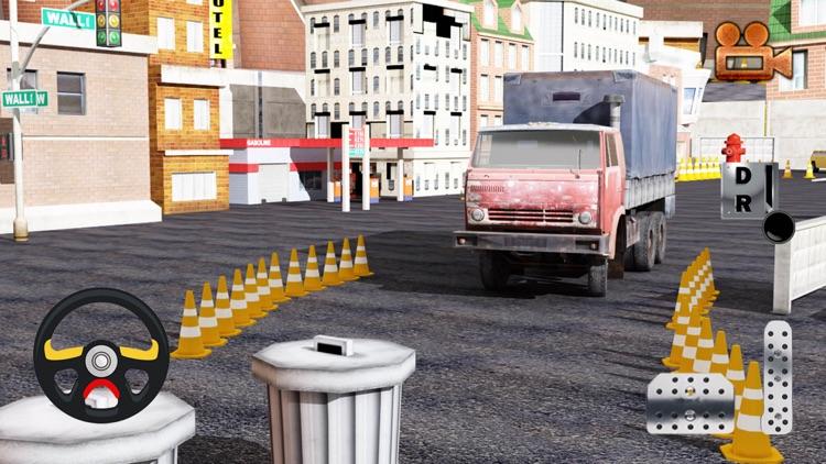 3D Garbage Truck Parking Simulator - Trash Dumpster Trucker Steer Driving Game
