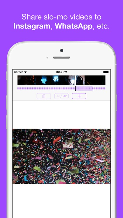 TruSloMo - Share slow motion video to Instagram, WhatsApp, WeChat. Supports 240fps and 120fps video from iPhone 5S, iPhone 6, iPhone 6+