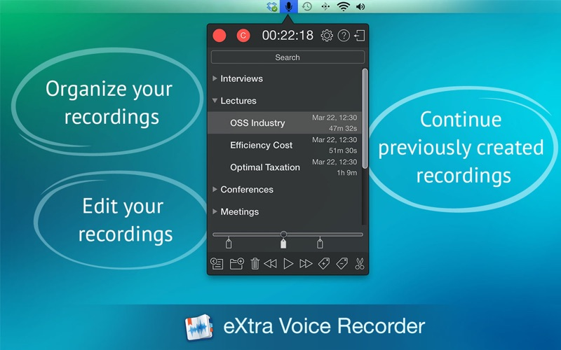 Screenshot #1 for eXtra Voice Recorder