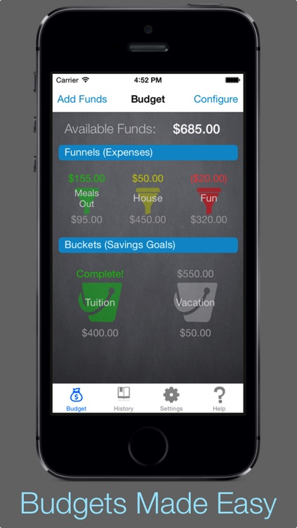 Buckets and Funnels PRO - Savings and Expense Budgeting
