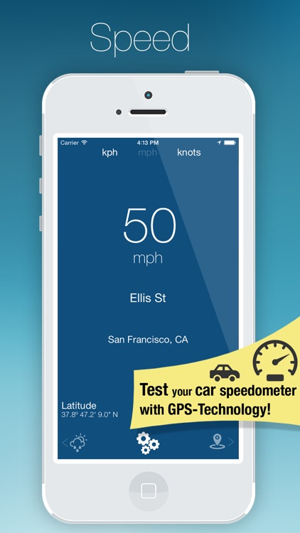 SpeedMeter - GPS tracker and a weather app in one