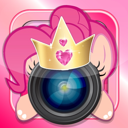 "Manga & Anime Sticker Camera Pony ""Photo Booth Dress Up in Style For Rainbow"" iOS App"