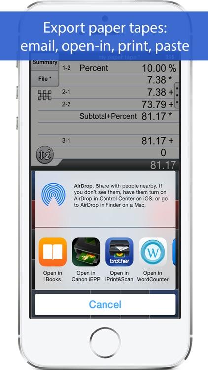 Adding Machine 10Key iPhone screenshot-4