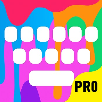 Color Keyboard Themes Pro - new keyboard design & backgrounds for iPhone, iPad, iPod Logo