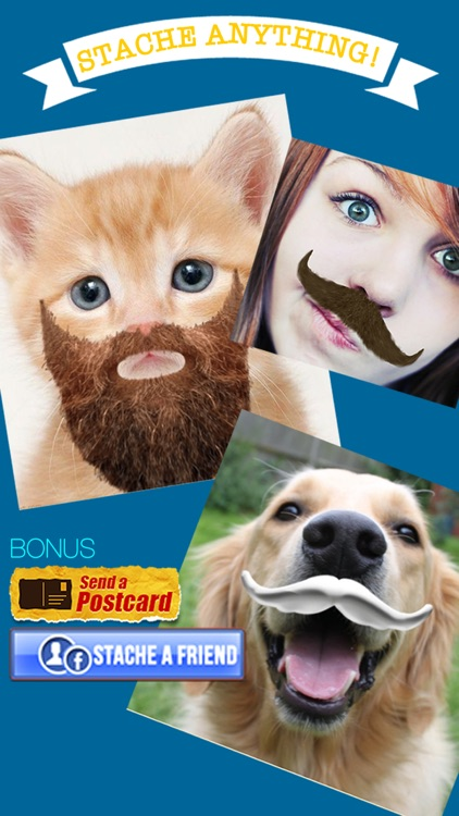 StacheTastic! Art of The Mustache Beard Photo Sticker Pic Booth FREE screenshot-2