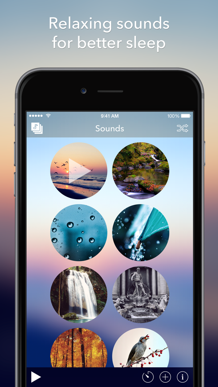 Relax Sounds - Relaxing Nature & Ambient Melodies - Help for Better Sleep, Baby Calming, White Noise, Meditation & Yoga Screenshot