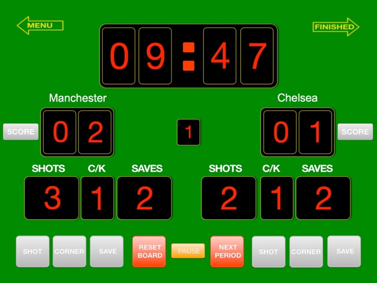 ScoreKeeper Soccer HD screenshot-2