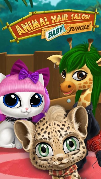 Baby Jungle Animal Hair Salon - No Ads screenshot-0