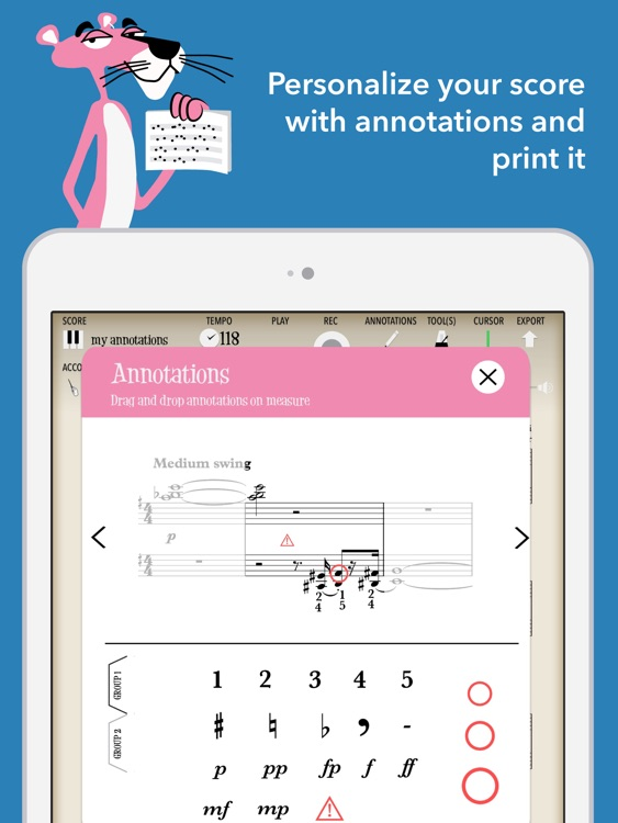 The Pink Panther (interactive sheet music) screenshot-3