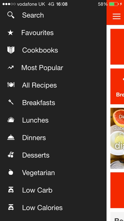 Diabetes Recipe App