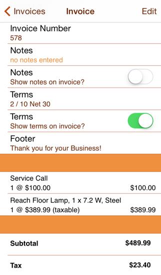 Service Call review screenshots