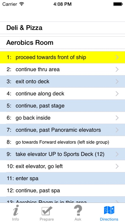 Deck Director Select - onboard cruise ship guide screenshot-3