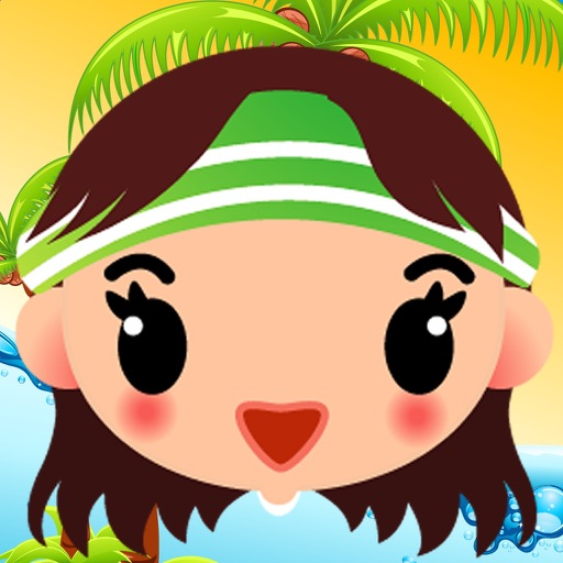 Princess Jump : Fashion Girl Have Fun On The Beach