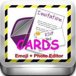 Invitation eCards with Photo Editor.Customize and Send Invitation eCards with Invitation Emoji,Text and Voice Messages