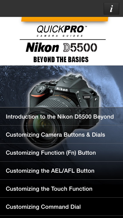 QuickPro Control + Train for Nikon D5500 Beyond the Basics HD