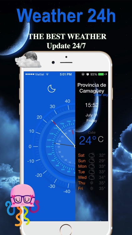 Weather 24h Free Weather Forecast 360 Live condition screenshot-3