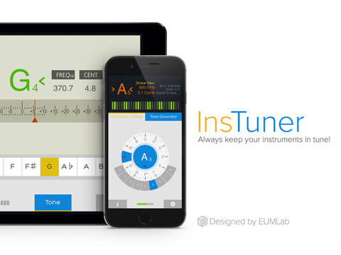 insTuner - Chromatic Tuner with Tone Generator screenshot