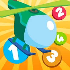 Activities of Active Counting Game for Children Learn to Count 1-10 with Flying Engines and Helicopters