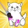 Aktiv! Malbuch Katzen Für Kinder: Katze und Kätzchen aus-malen lernen