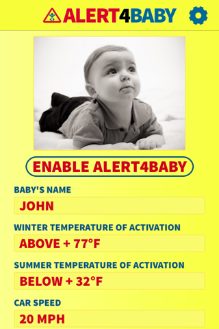 Alert4Baby - náhled