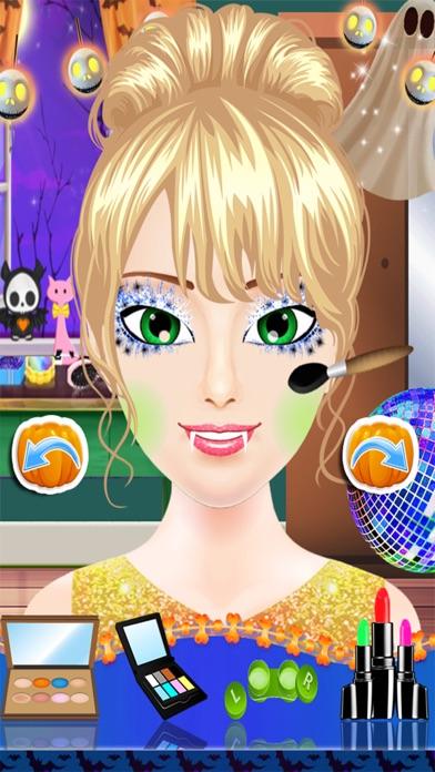 ハロウィン コスチューム パーティー ドレス - スパ サロン不気味な化粧 & 変身子供 10 代のドレス デザイン女の子ゲーム紹介画像2