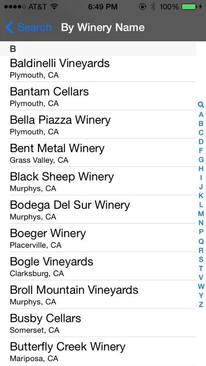 Sierra Foothills Winery Finder