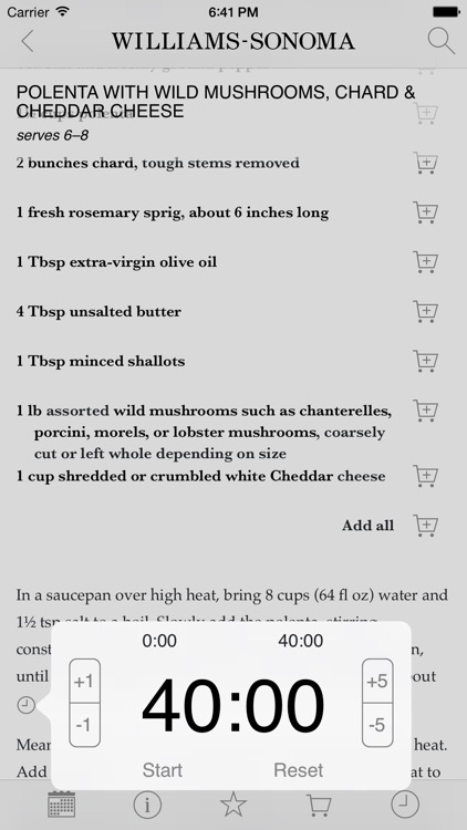Recipe of the Day from Williams-Sonoma screenshot-4