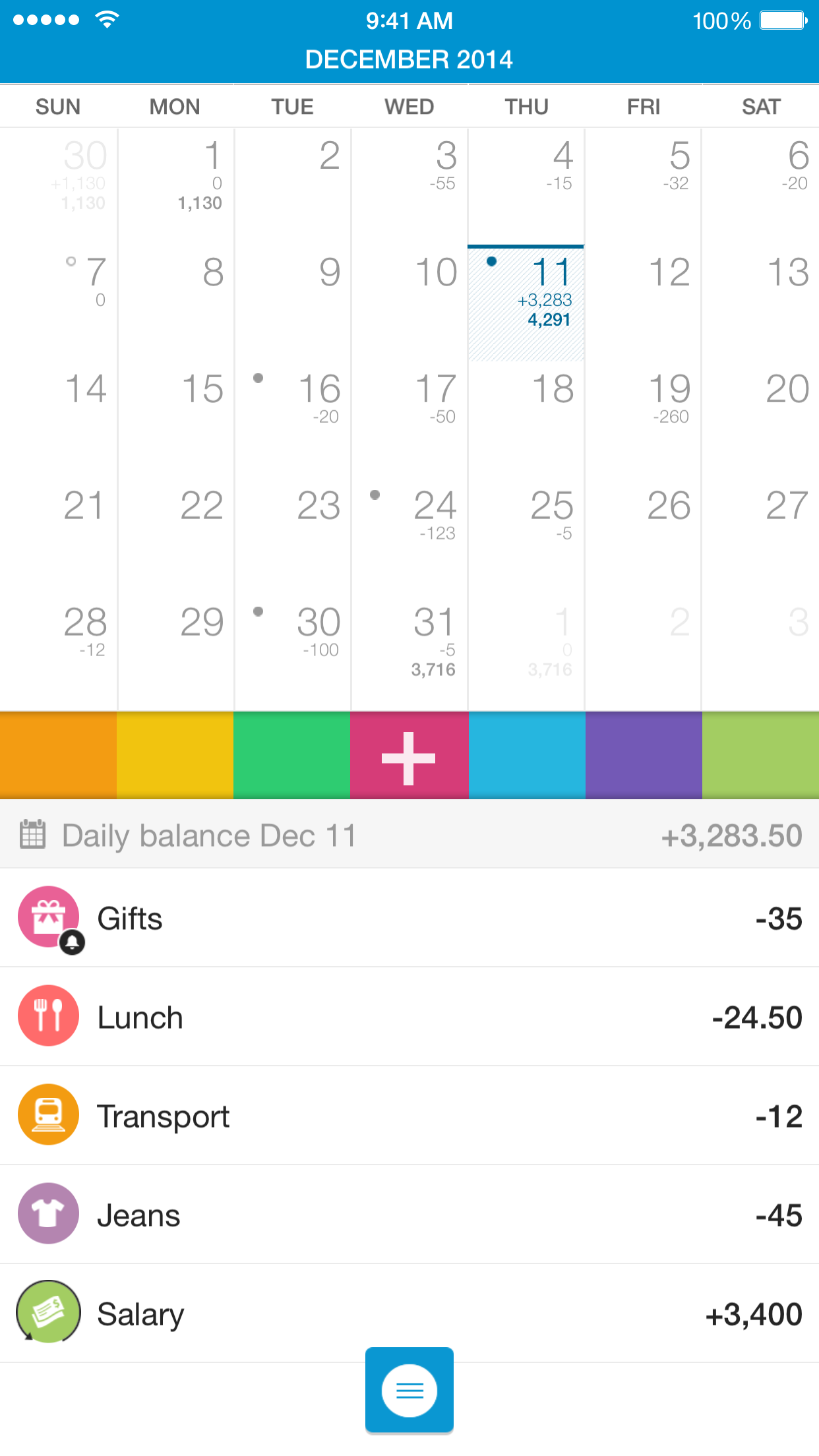 DB Classic - Smart Personal Finance Calendar Screenshot