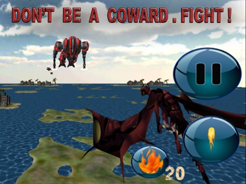 Red Dragon Robot Attack - An Epic 3D Arial battlefield apocalypse screenshot