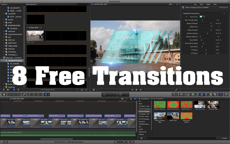 CoreMelt Motion Templates For Final Cut Pro 1 Screenshot