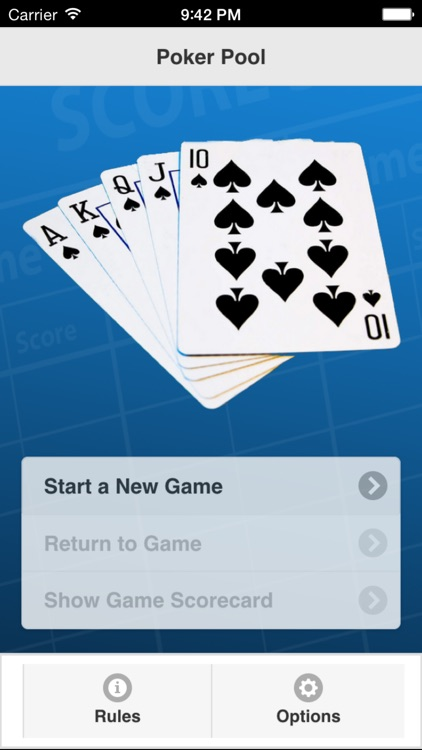 Poker Pool Scorecard