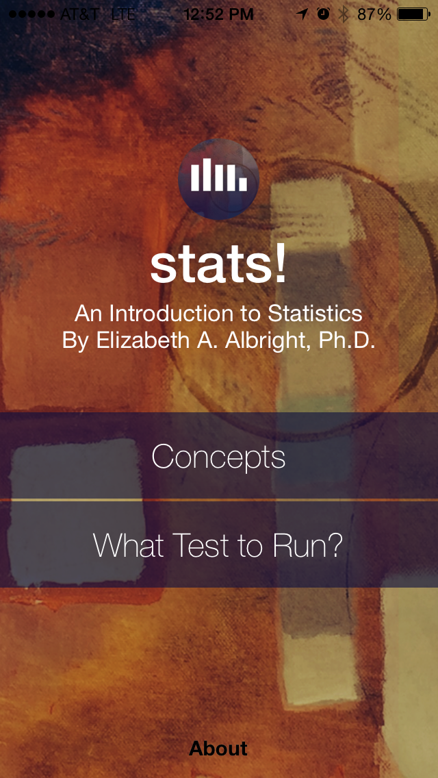 stats! Statistics Learning and Decision Tool Screenshots