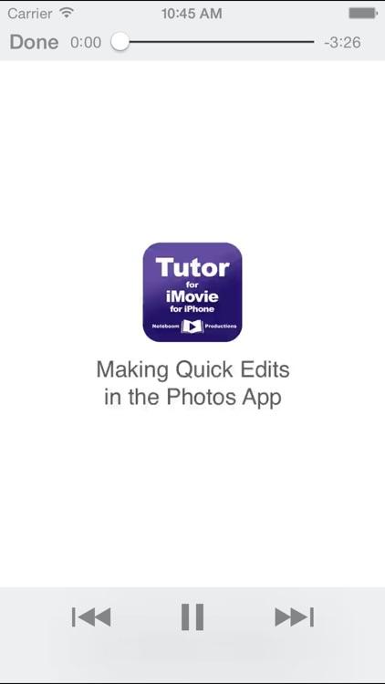 Tutor for iMovie for iPhone screenshot-3