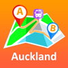 Auckland offline map with public transport route planner for my journey