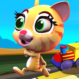 Racing Cat Runner : Clumsy Kitty Running the Race – Run Game for Kids