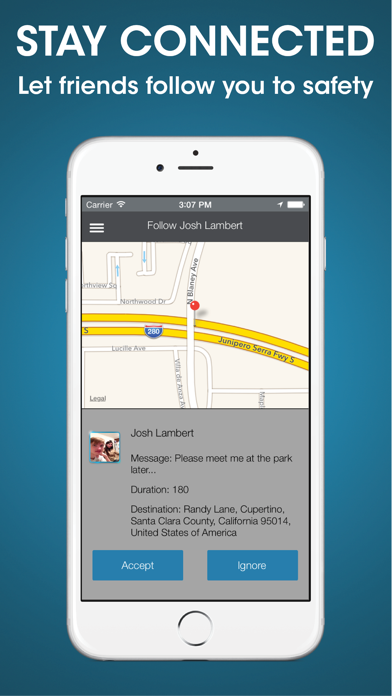 React Mobile – Personal Safety App screenshot