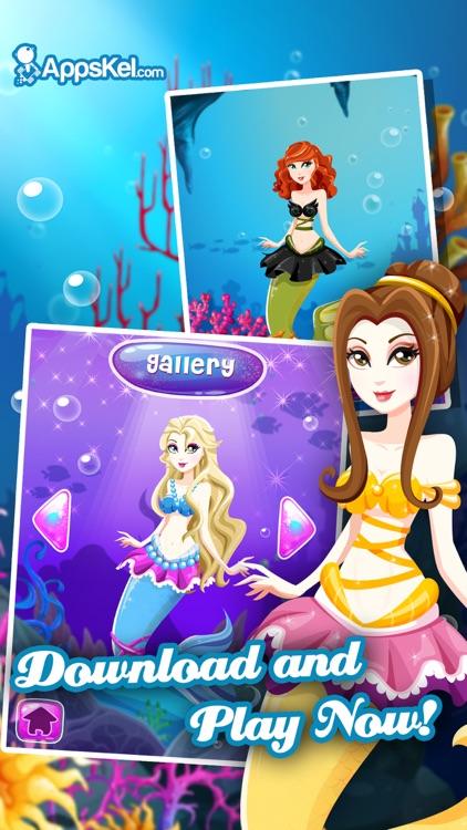 White Salon Mermaid Girls Dress Up – Princess Makeover Games for Free screenshot-3